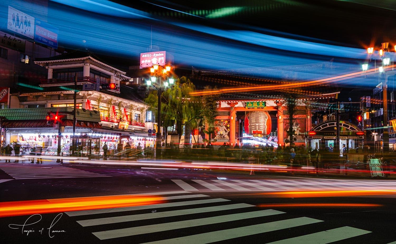 Asakusa Thunder Gate at night, Tokyo
