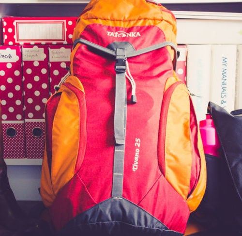 Backpack and camera gear