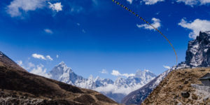 Himalaya mountains on the way to Mt Everest Base Camp