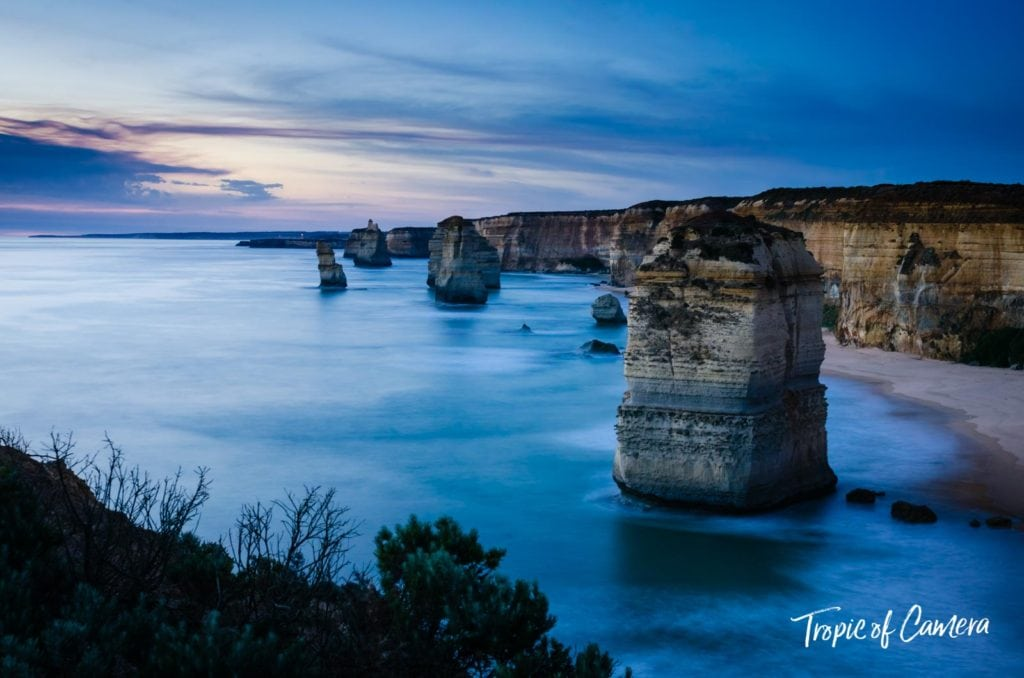 Twelve Apostles at sunset on the Great Ocean Road, Australia