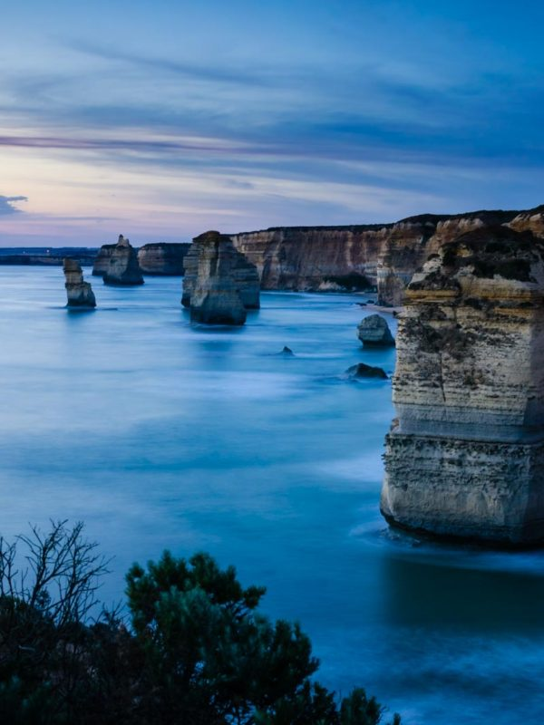Twelve Apostles at sunset on the Great Ocean Road, Australia