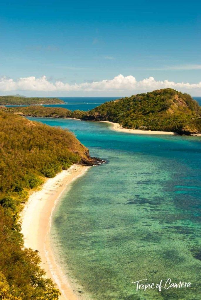 Aquamarine water and beach in Fiji