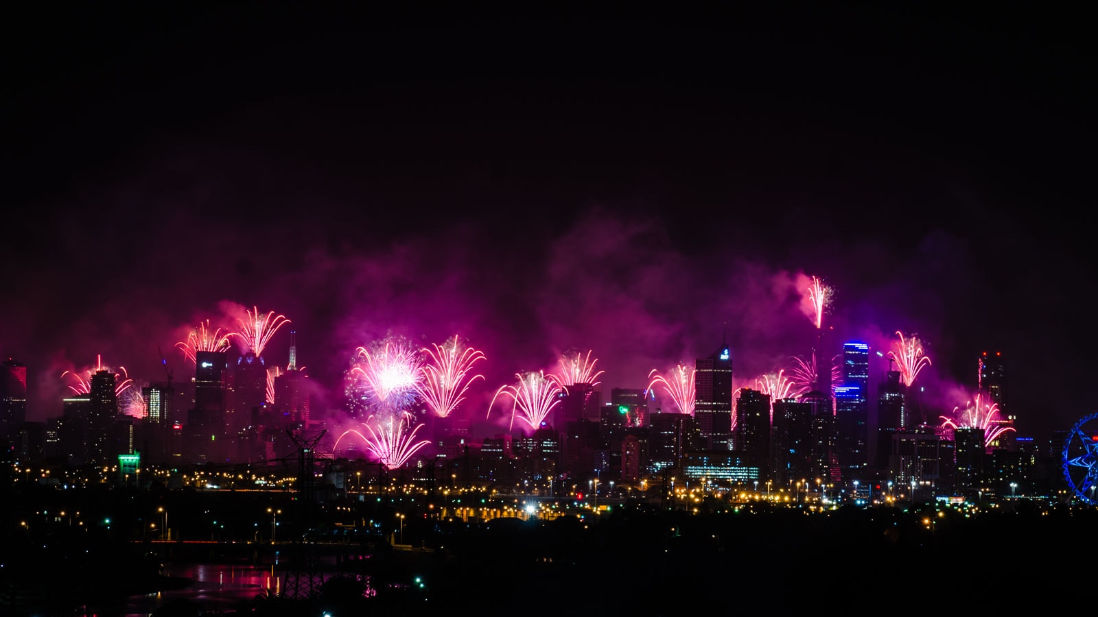 New Years Fireworks in Melbourne, Australia