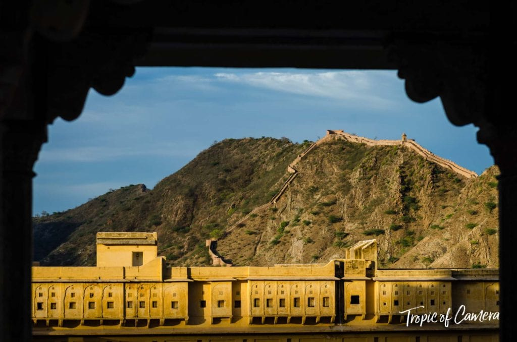 Scenic view of the Amer Fort, near Jaipur