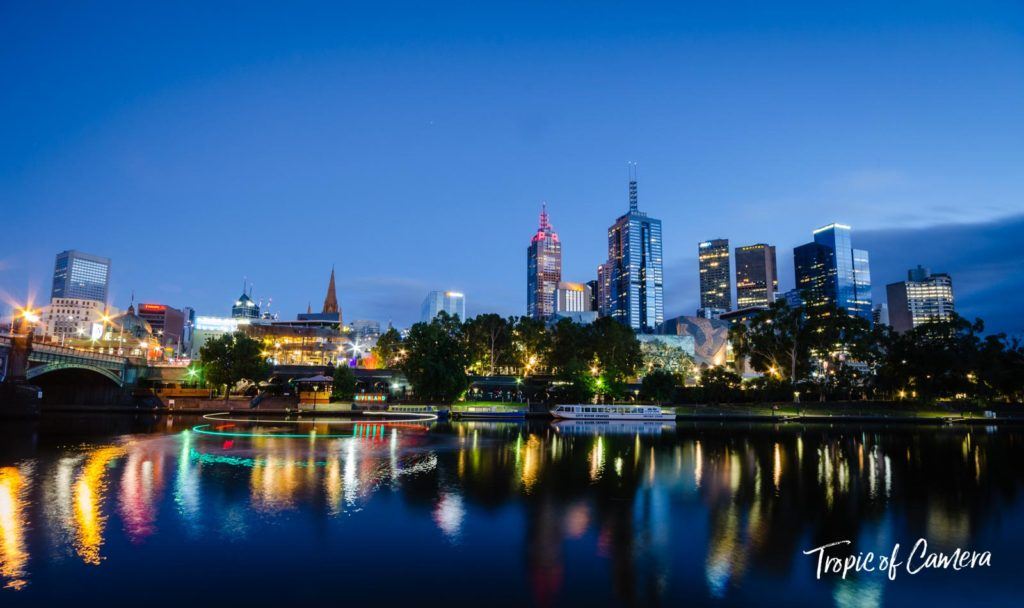 Melbourne cityscape in the morning
