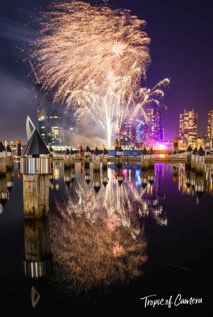 Docklands fireworks, Melbourne, Australia