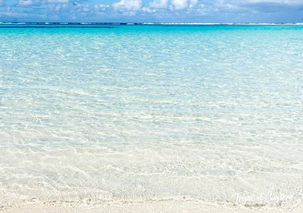 Crystal clear water at the beach in New Caledonia