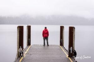 Man standing at Lake St Clair