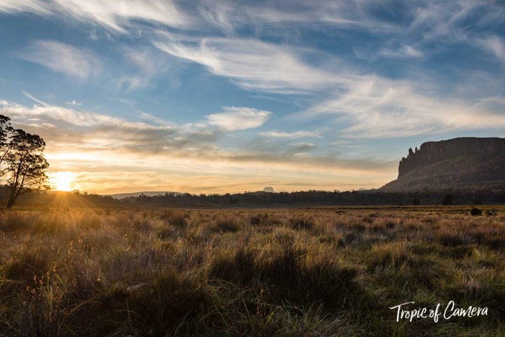 Sunset on the Overland Track, Tasmania, Australia
