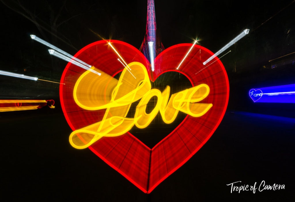 Love installation at White Night, Melbourne