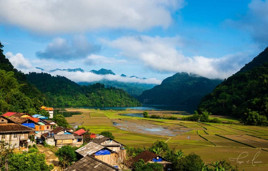 Village in Ba Be National Park, Vietnam. This photo can be licensed through Getty Images.