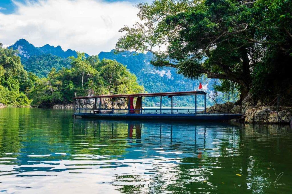 Boat in Ba Be National Park, Vietnam