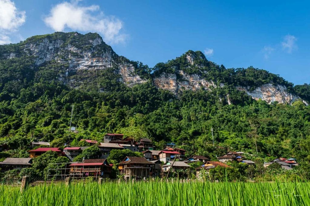 Village in Ba Be National Park, Vietnam