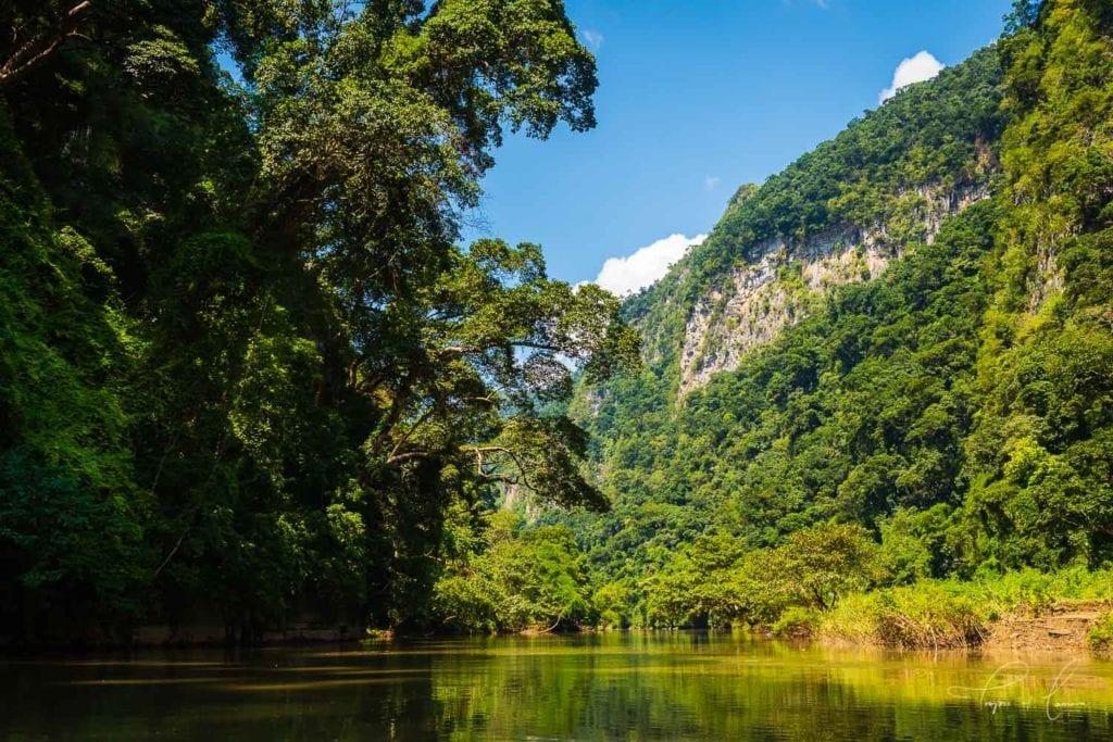 River landscape in Ba Be National Park, Vietnam