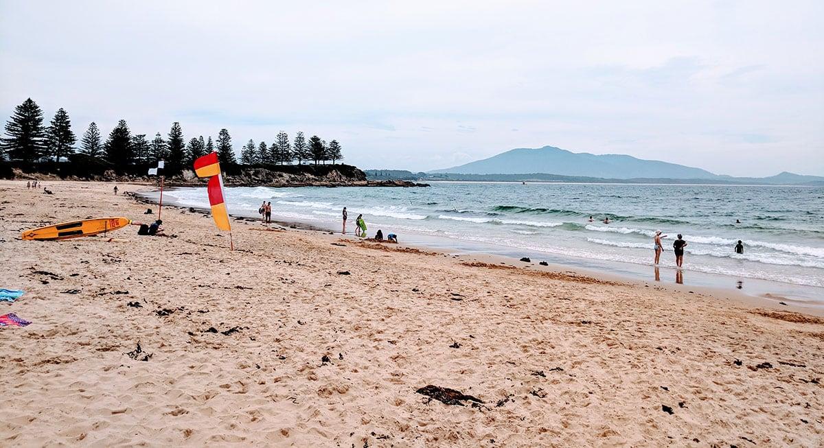 Beach on the East Coast of Australia