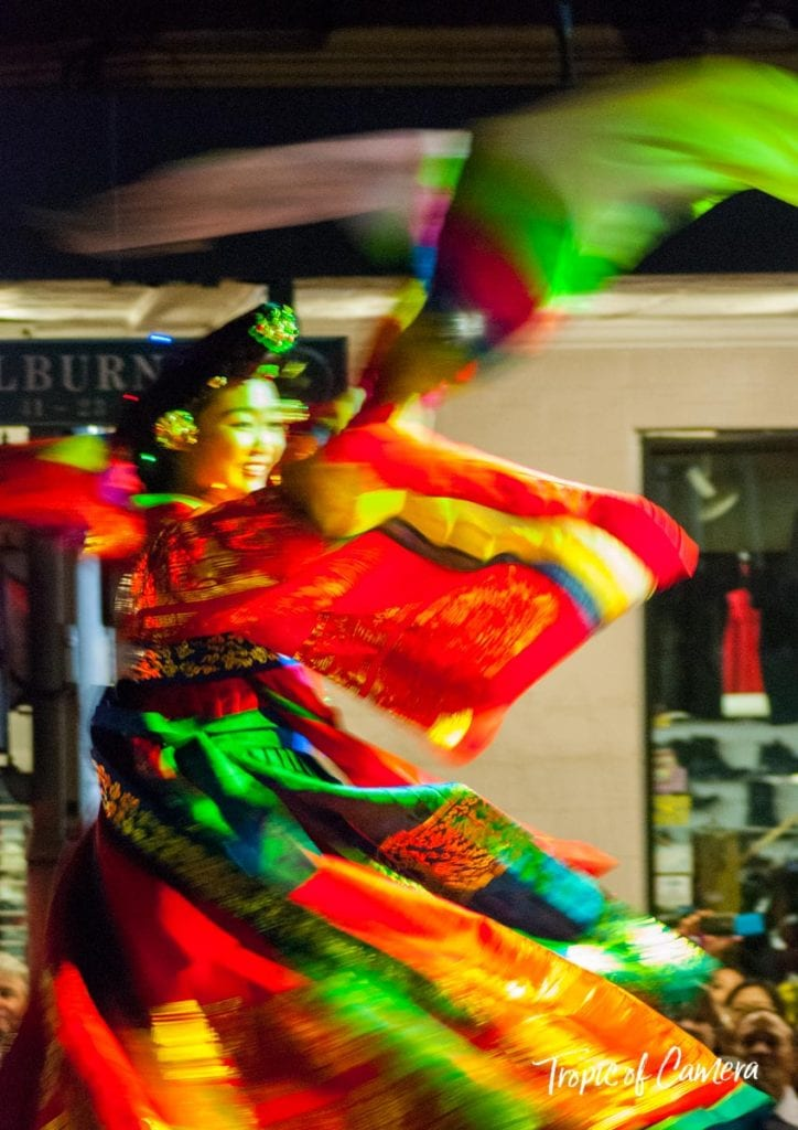 Woman dancing at Chinese Lunar New Year Celebration, Sydney