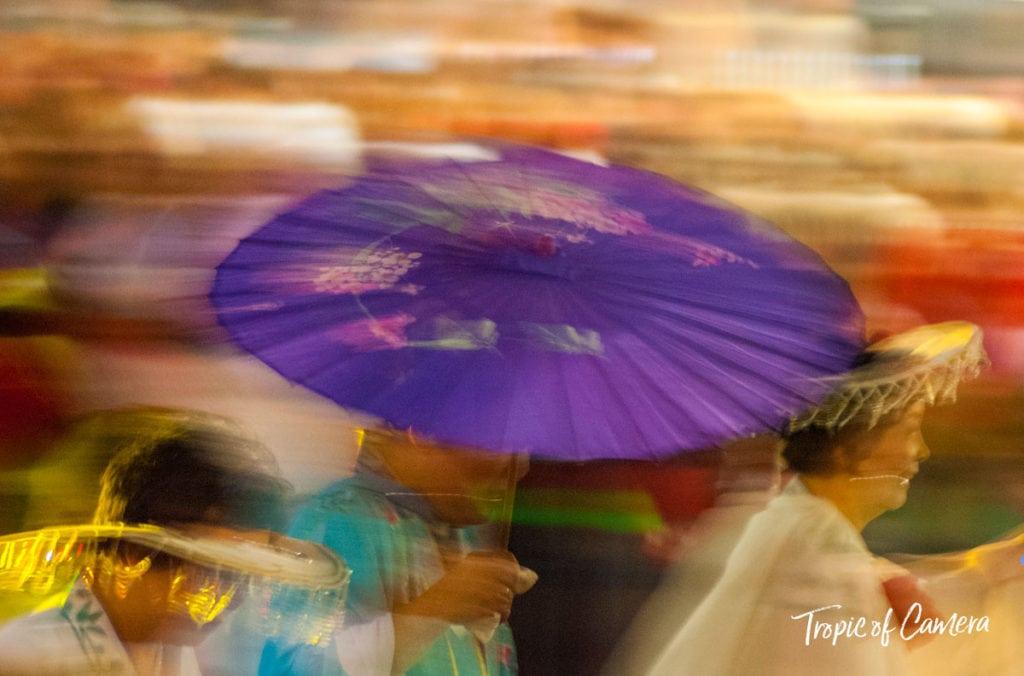 Paper umbrella at Chinese New Year Celebration