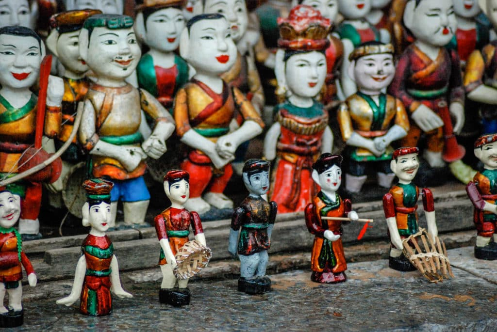Water puppets in Hanoi