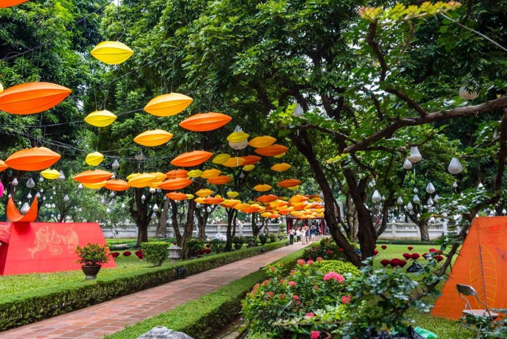 Lanterns at the Temple of Literature, Hanoi
