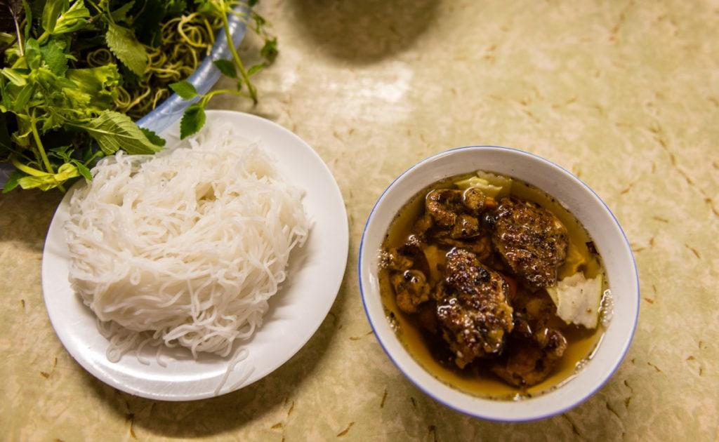 Bun Cha, a traditional Hanoi dish