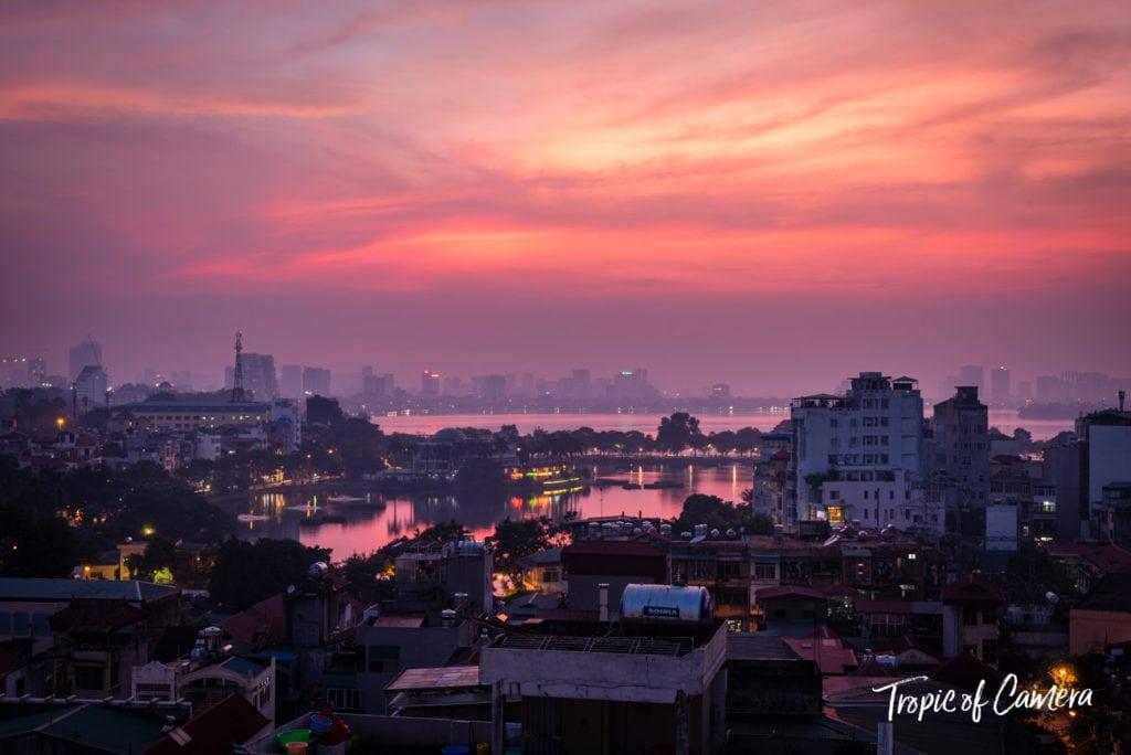 Sunset in Hanoi, Vietnam