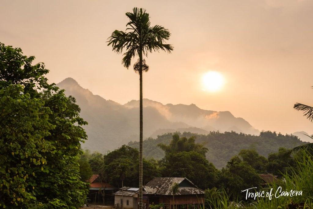 Sunset in Mai Chau, Vietnam