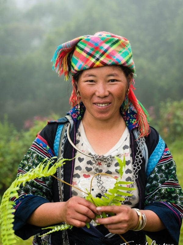 Amang, a Hmong Tribeswoman trekking in Sa Pa