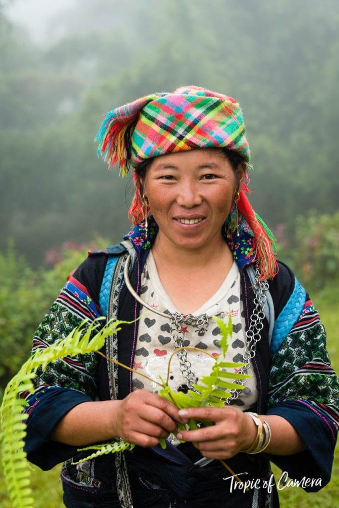 Amang, a Hmong Tribeswoman trekking in Sa Pa