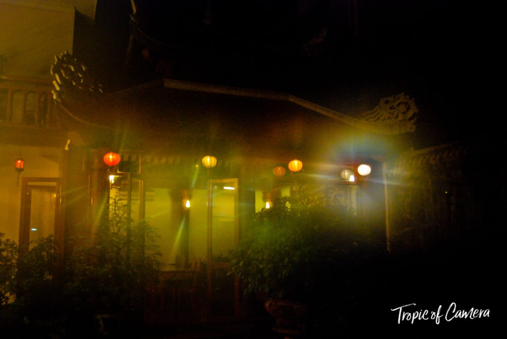 Photo of Vietnamese lanterns with foggy lens