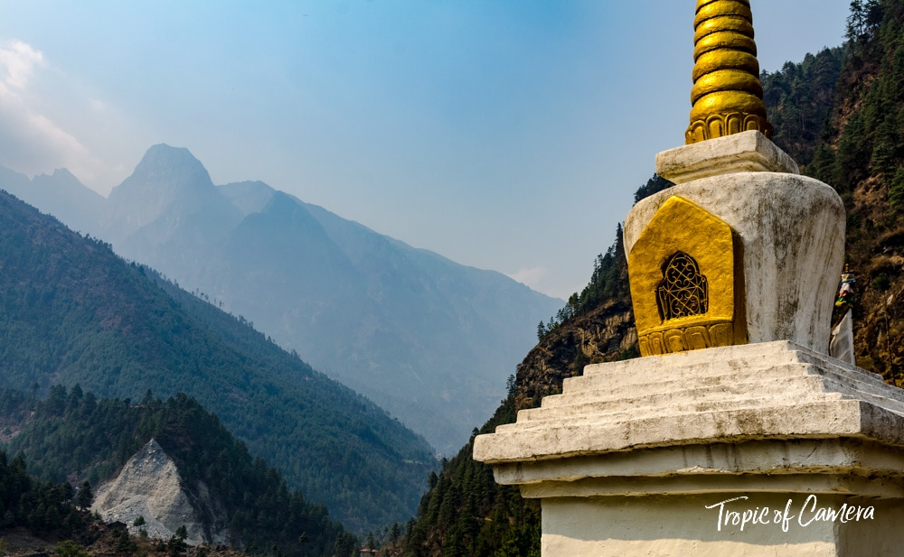 A stupa in the Himalayas, Nepal