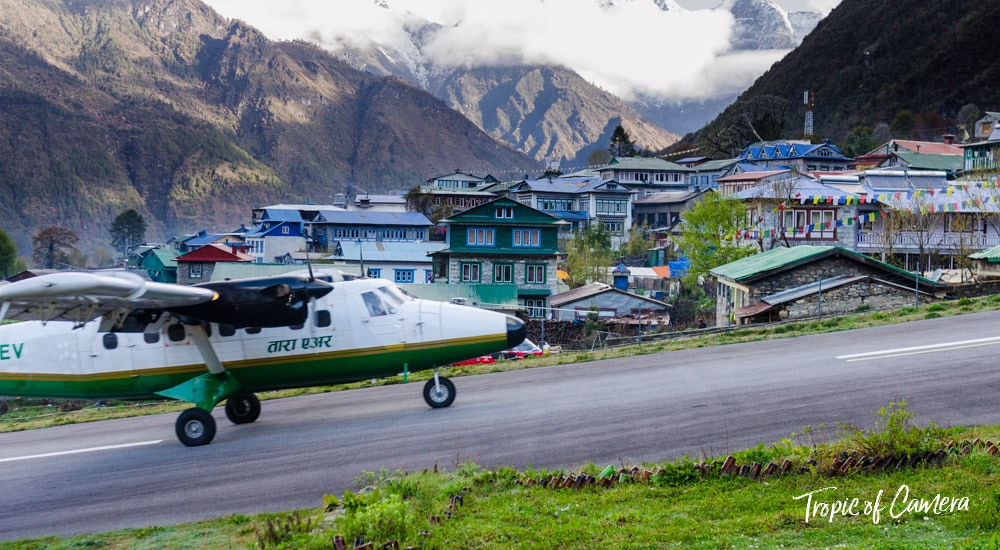Lukla Airport in the Himalayas, Nepal