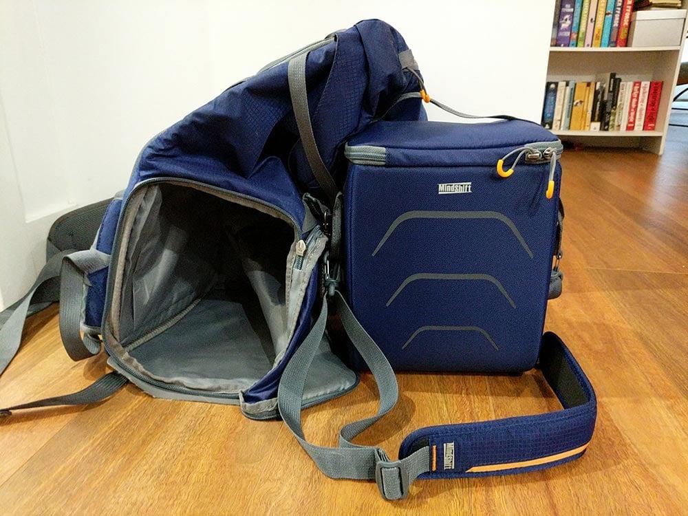 MindShift Ultralight Dual 25L Camera Bag Taken apart