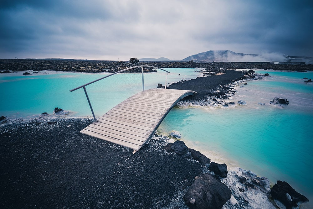 Bridge over the blue lagoon, Iceland