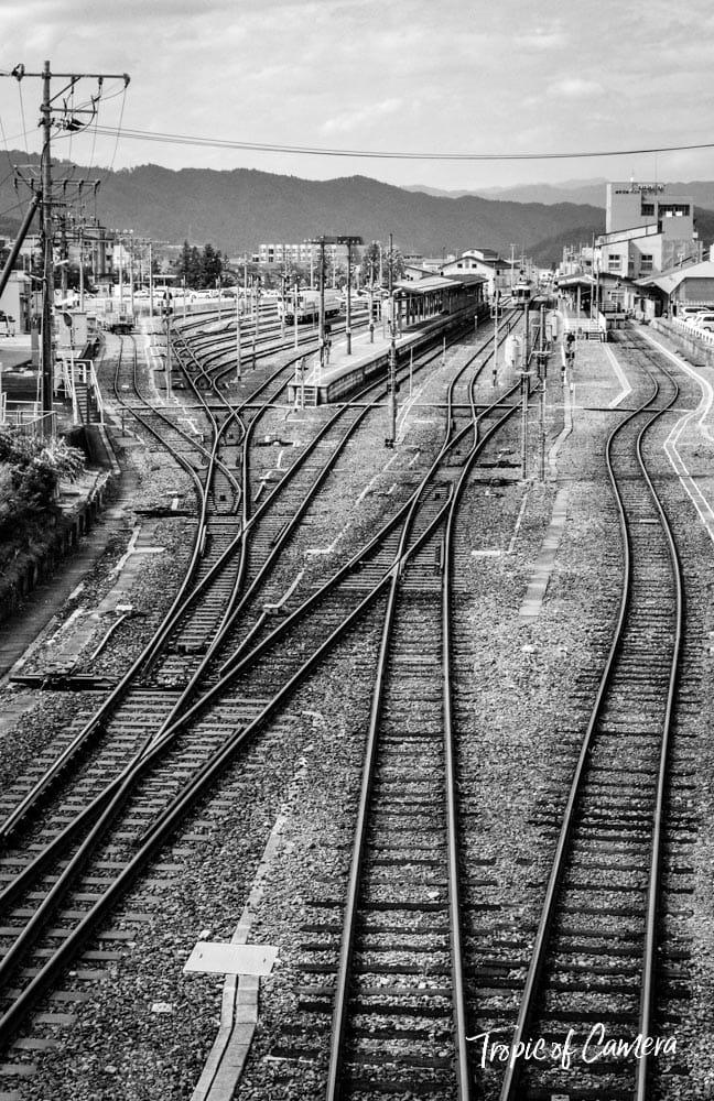 Train tracks in Japan
