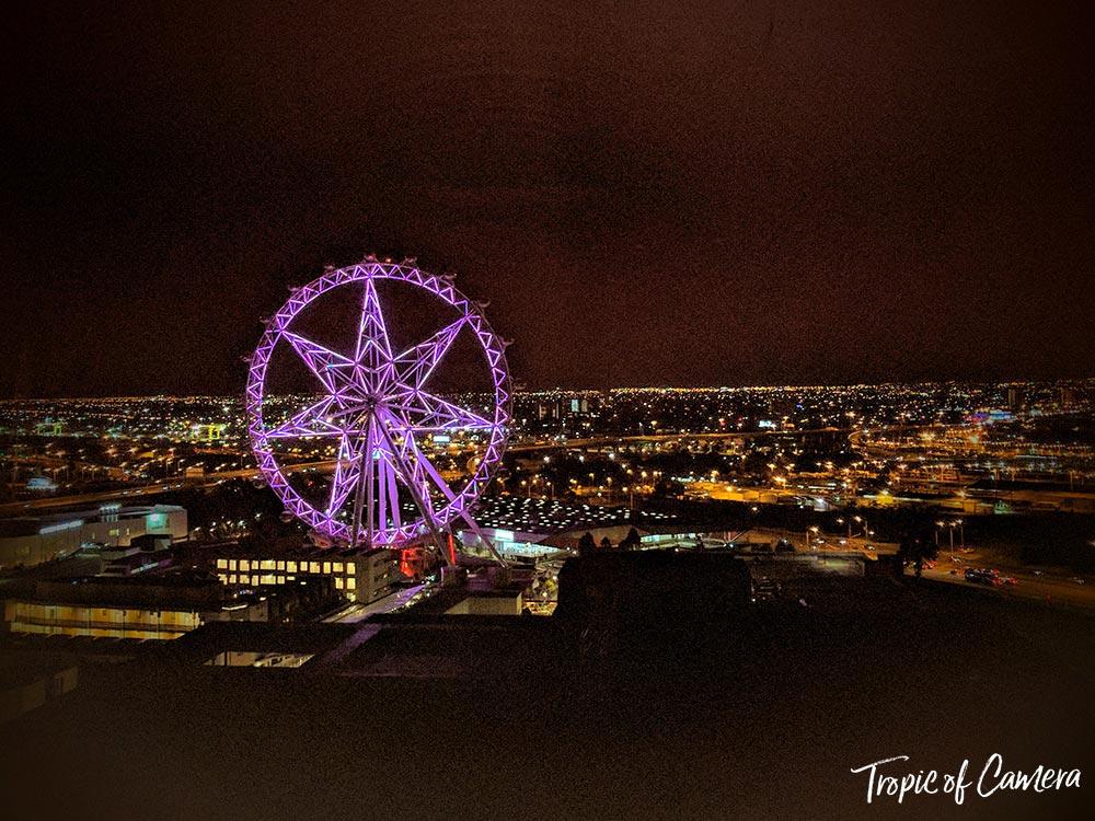 Melbourne Observation Wheel at night