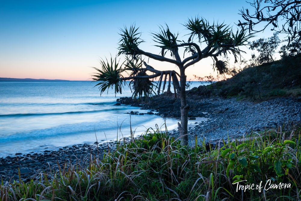 Picnic Cove at Noosa National Park at sunrise.