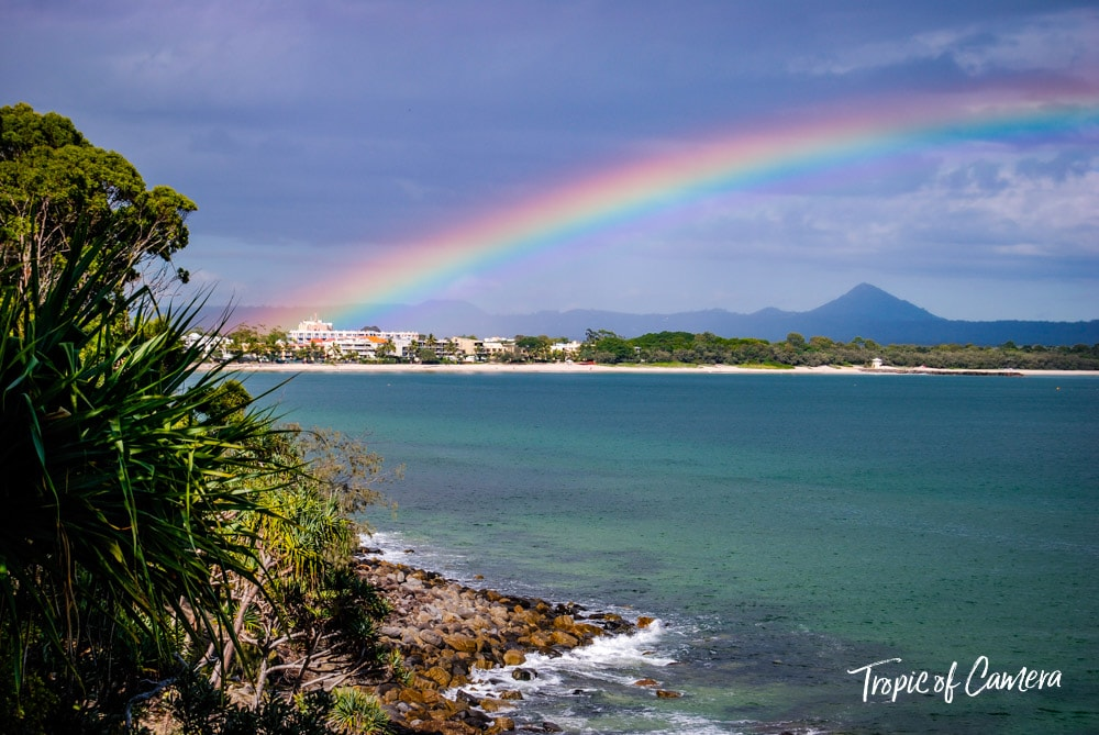 Rainbow over Noosa Heads