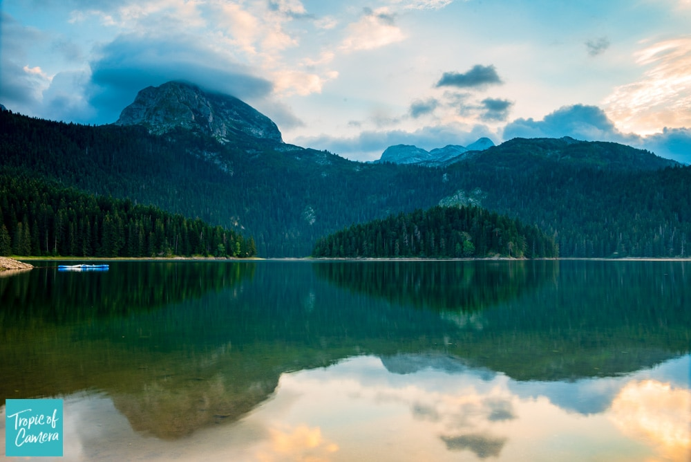 The Black Lake at Sunset in Durmitor National Park, Montenegro