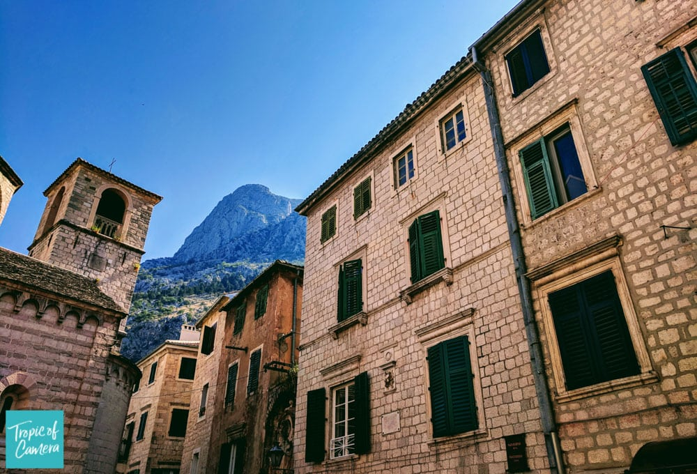 Buildings in the old city of Kotor, Montenegro