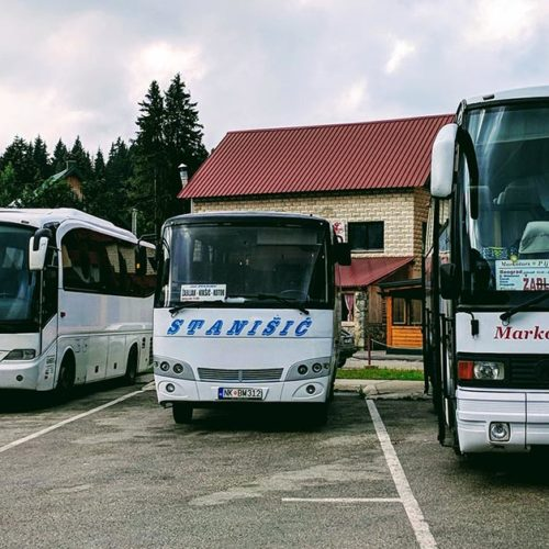 Balkan buses at Zabljak Bus Station