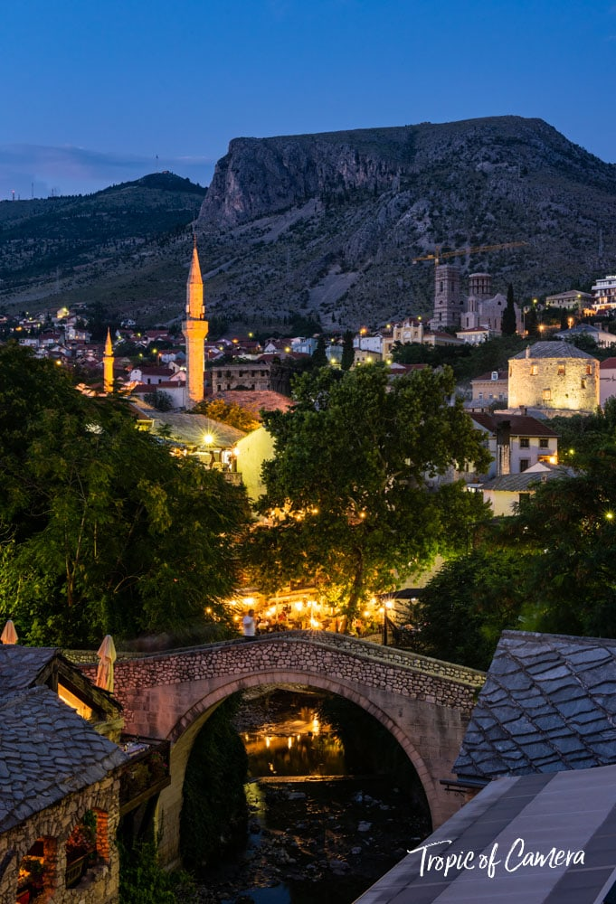 Night in Mostar, Bosnia and Herzegovina