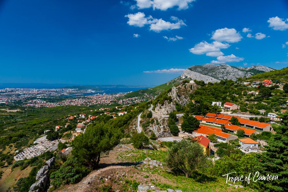 View from the Fortress of Klis near Split, Croatia