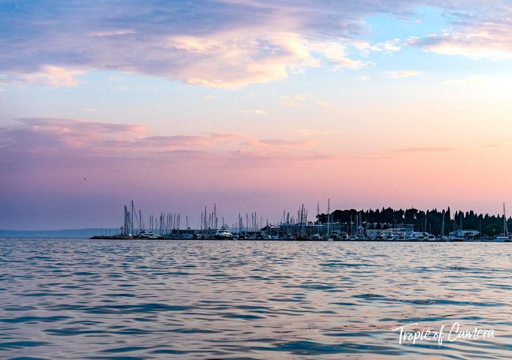 Sunset over Split, Croatia
