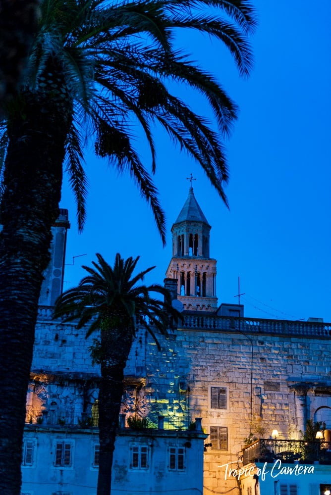 Blue hour in Split, Croatia
