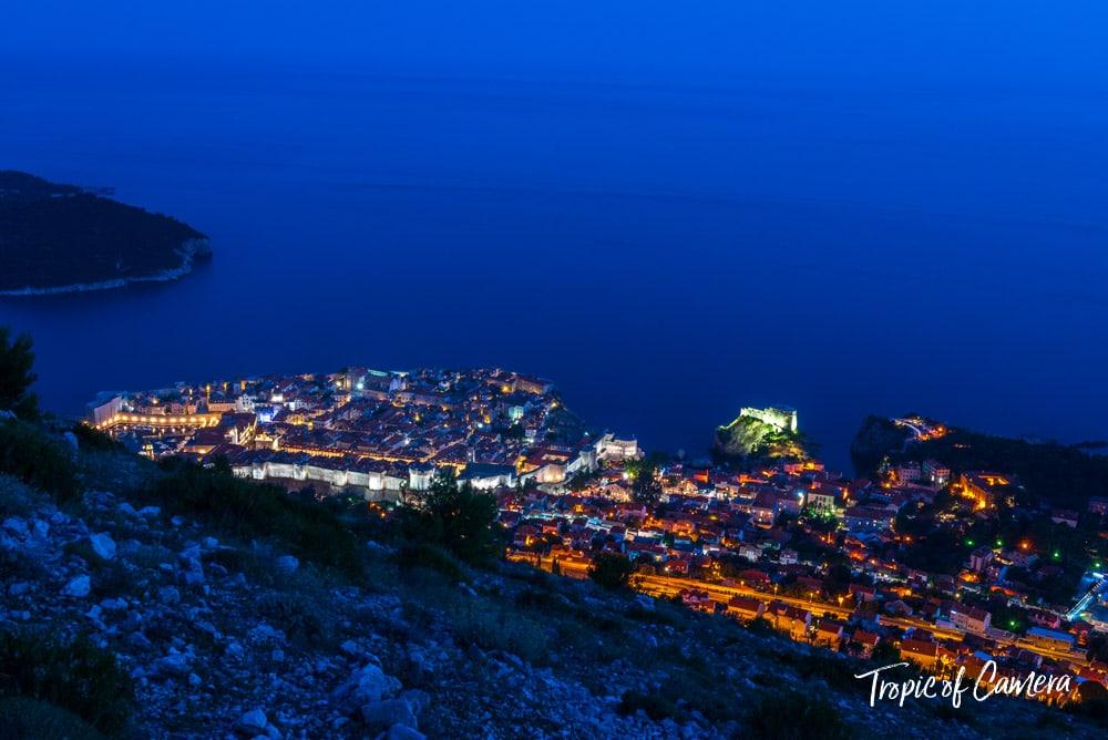 Night in Dubrovnik, Croatia