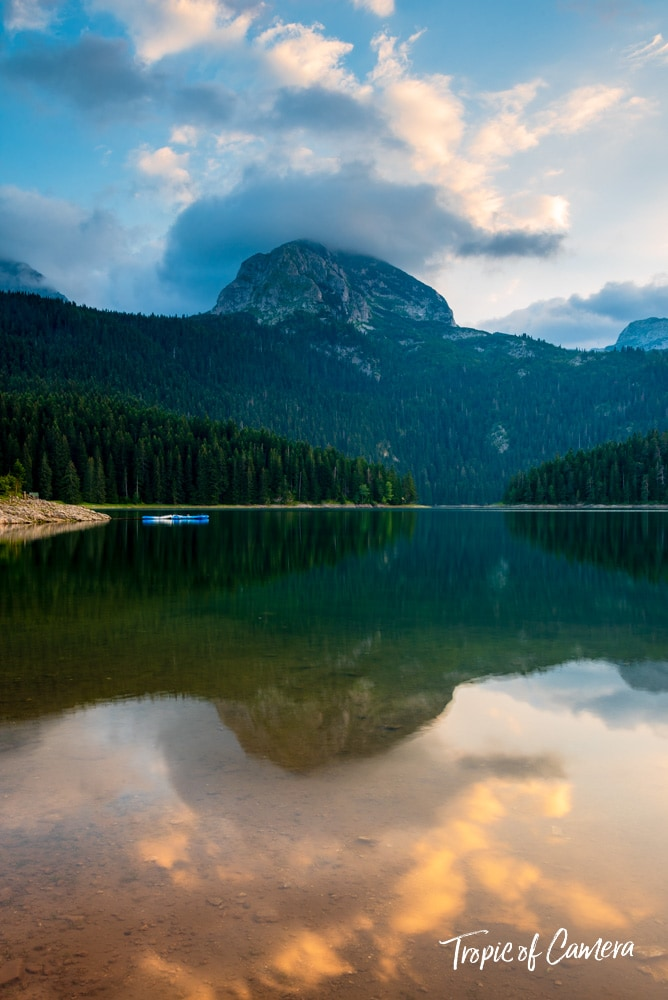 The Black Lake in Durmitor National Park, Montenegro