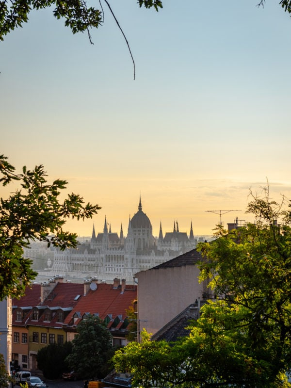 Sunrise over the Hungarian Parliament building, Budapest