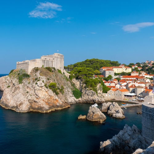 Scenic view of Dubrovnik, Croatia, a key filming location in Game of Thrones