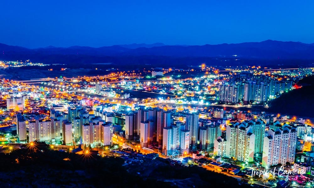 Cityscape of Eonyang at Night, South Korea