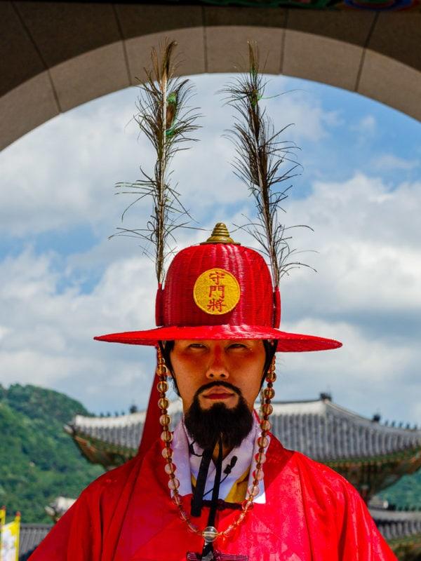 Korean guard at Gyeongbokgung Palace, Seoul